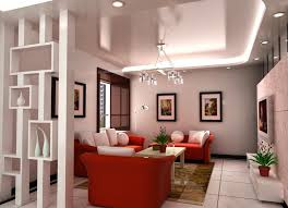 Trendy Living Room Ideas by Decorative Plasterboard Partition Walls With Shelves In Modern