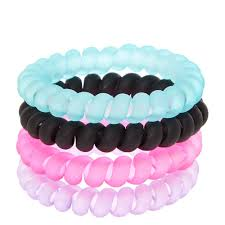 hair ties black pink purple and mint matte coiled hair ties s us