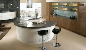 kitchen contemporary curved countertop design with white wood