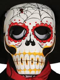 Day Of The Dead Mask Day Of The Dead Spiderweb Mask Partynutters Uk
