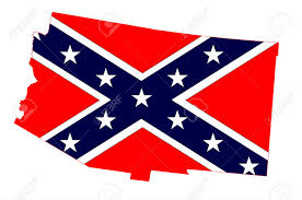 Confederate Flag Alabama Outline Map Of The State Of Arizona With Confederate Flag On