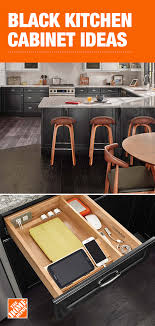black kitchen cabinets home depot on trend yet timeless black cabinets from the home depot