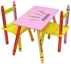 crayola table and chairs buy kiddi style crayon table and chair set pink kids tables and