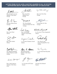 letter from state level elected leaders in all 50 states