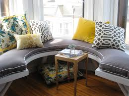 black velvet window seat cushion design ideas