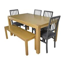 48 off wooden dinner set with bench seat tables
