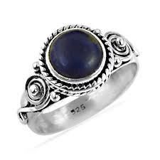 silver rings designs images Sterling silver rings synthetic turquoise gemstone ring jpg