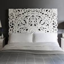 Carved Wood Headboard White Carved Headboard