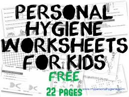 personal hygiene worksheets for kids personal hygiene
