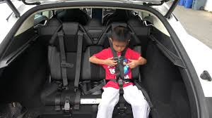 tesla model 3 interior seating tesla model s trunk rear facing jump seats third row youtube