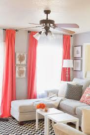 Love Home Decor Sheets For Drapes Pop Of Coral Living Room Home Decor And