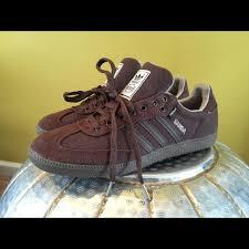 hemp sambas men s adidas hemp samba sz 10 5 chocolate brown athletic shoes