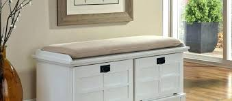 Bathroom Bench Seat Storage Tetbury Hallway Bench White Hallway Storage Bench With Cushion