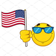 Flag Emoticons Emoji Face Character With Sunglasses Illustrations Creative Market