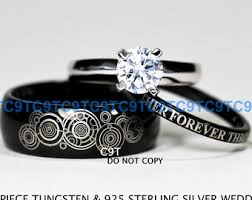doctor who wedding ring doctor who wedding ring set etsy