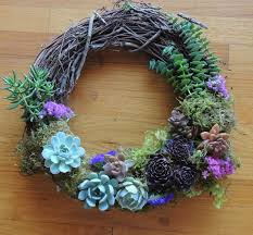 succulent wreath succulent wreath 009 b succulents