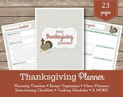 thanksgiving planner and organizer bundle printable 8 5x11