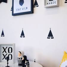 monochrome teepee wall stickers by parkins interiors monochrome teepee wall stickers
