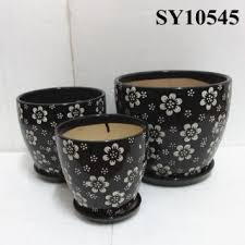 Glazed Ceramic Pots Ceramic Flower Pot Set Ceramic Flower Pot Set Discount