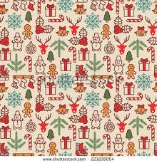vintage christmas wrapping paper christmas background seamless tiling vector illustration stock