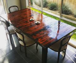 wood dining room tables and chairs pallet furniture