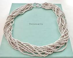 silver bead necklace tiffany images Tiffany co vintage and estate jewelry by blondeeestreasures jpg