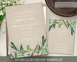 green wedding invitations invitation greenery wedding invitation set 2537081 weddbook