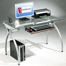 Metal And Glass Computer Desks Gorgeous Metal Computer Desk Interior Design Plan With