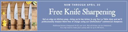 sur la table knife sharpening free sur la table free knife sharpening