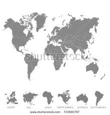 europe world map world map division continent vector stock vector 793428793
