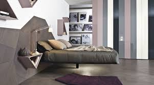 double floating bed frame from metal fluttua r lago luxury