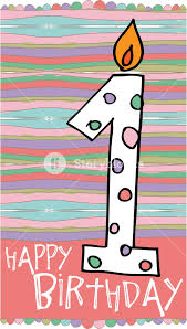 number birthday candles illustration of number 1 birthday candles with colorful background