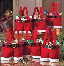 christmas goody bags santa claus spirit candy bags kids treat christmas gifts