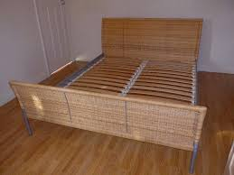 Small Double Bed Frames Ikea by Sundnes Ikea Rattan Wicker Double Bed Frame Including Wooden Slats