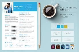 colorful resume templates feminine resume cv template resume templates creative market modern resume template