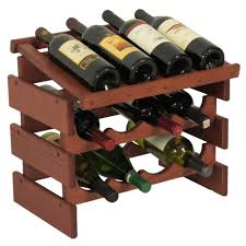 wooden mallet wine rack configurations