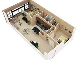 1 Bedroom Loft Apartments by 50 One U201c1 U201d Bedroom Apartment House Plans Bedroom Apartment