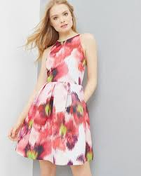 expressive pansy skater dress gray dresses ted baker