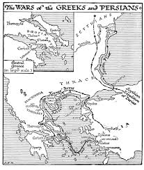 Ancient Greece Map Worksheet by Persian Wars