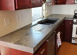 Red Mahogany Kitchen Cabinets by Furniture Amazing Kitchen Concrete Countertops Designs Vondae