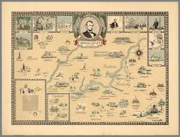 Map Of Indiana And Illinois by Abraham Lincoln 1809 1865 Indiana Kentucky Illinois David