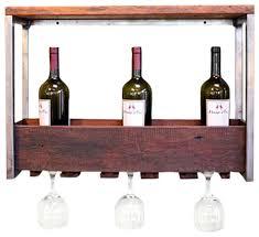 wood wine rack grain u0026 rod metal and wood 3 bottle wine rack
