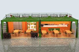 container shop design for outdoor with ce approval mall kiosks