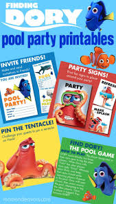 pool party invitations free finding dory pool party printables this free printable party