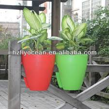 fo 9888 plastic self watering planter balcony flower pot rail