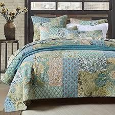 3 printed quilt set king size bedspread