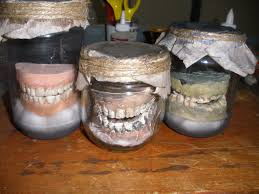 false teeth in a jar different degrees of bad hygiene halloween