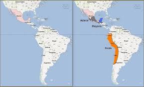 Mayan Empire Map Native Americans By Ben Newhard