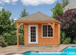 landscape structures pool house cabanas backyard unlimited