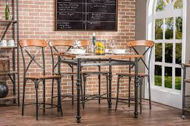 Modern Furniture Stores In Chicago by Baxton Studiobroxburn Light Brown Wood U0026 Metal Pub Table